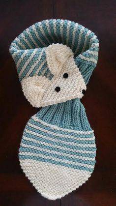 Stretch deti / Batoľa nastaviteľný Fox Stripe šatka QuiltNCrochet