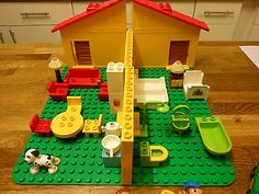 Lego #duplo house, #family, dog, car, furniture, including large base #board !!!,  View more on the LINK: http://www.zeppy.io/product/gb/2/191927574399/