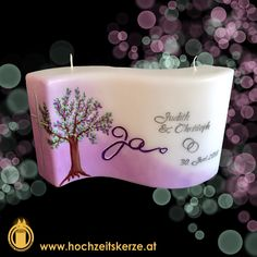 Hochzeitskerze flieder, lila, Baum Pillar Candles, Lilac, Crafts, Wave, Lilac Bushes, Candles, Trees, Homemade, Gifts