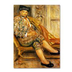 Renoir 'Ambroise Vollard' Canvas Art