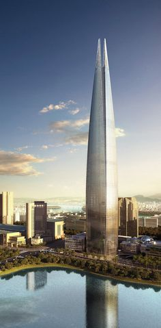 Image 2 of 2 from gallery of Lotte Super Tower / KPF. Commercial Architecture, Burj Khalifa, Engineering, Skyscrapers, Towers, Gallery, Building, Korea, Travel