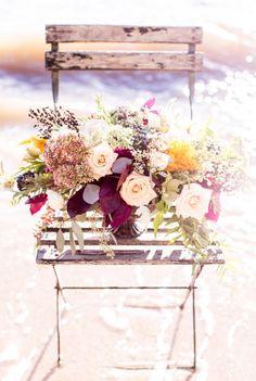 Beautiful fall bouquet: http://www.stylemepretty.com/little-black-book-blog/2014/10/27/romantic-fall-seaside-wedding-inspiration/ | Photography: Reverie Supply - https://reveriesupply.squarespace.com/