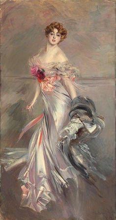 Giovanni boldini (1842 - 1931), portrait of princess cecile murat - 1910, xix century, italy