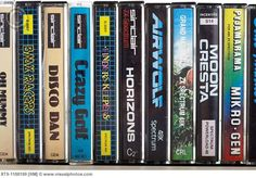 selection of ZX game tapes