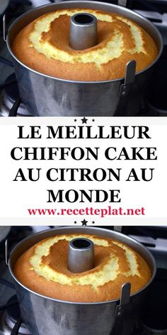 chiffon citron cake Chiffon cake citronYou can find Easy pumpkin dessert and more on our website Apple Cake Recipes, Orange Recipes, Easy Cake Recipes, Pumpkin Recipes, Healthy Recipes, Cooking Cake, Fun Cooking, Cooking Recipes, Cooking Ideas