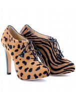 mytheresa.com - Charlotte Olympia - ALICE SIAMESE ANIMAL PRINT BOOTIES - Luxury Fashion for Women / Designer clothing, shoes, bags