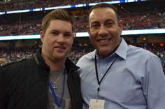 Houston Astros pitcher Bud Norris with KHOU 11 News Sports anchor Butch Alsandor