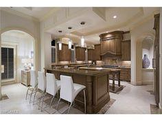 382 N Gulf Shore, naples, FL 34102 | Bright kitchen with pendant lighting.  Olde Naples