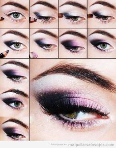 Maquillaje en tonos lila, una opción para la noche de año nuevo. Más ideas, en: http://www.1001consejos.com/maquillaje-para-ano-nuevo/