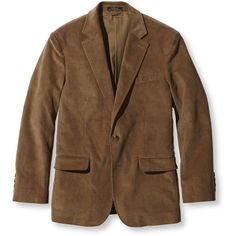 L.L.Bean Town And Field Blazer, Corduroy (395 PEN) ❤ liked on Polyvore featuring men's fashion, men's clothing and men's sportcoats