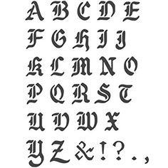J BOUTIQUE STENCILS Transparent Creative Basic Lettering Stencil Reusable Template AZ Alphabet Letters