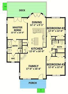 Cozy and Compact Cottage - 46312LA floor plan - Main Level
