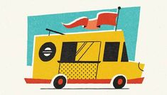 Getting StartedIn this tutorial, I will be walking you through the process of creating a retro food truck illustration in Adobe Illustrator and using that style to build a full cohesive collection.To replicate this look I'm using Retro. Car Illustration, Graphic Design Illustration, Icon Illustrations, Adobe Illustrator Tutorials, Photoshop Illustrator, Adobe Photoshop, Graphic Design Trends, Retro Design, Design Design