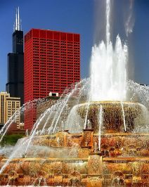 Buckingham Fountain - Chicago IL 301 E Columbus (at Congress) Visit Chicago, Chicago Travel, Chicago City, Chicago Style, Chicago Photography, Travel Photography, Buckingham Fountain, Milwaukee City, My Kind Of Town