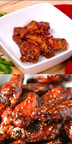 Wings with Angry Sauce are a hit at anytime but perfect for The sauce is easily adjusted to how spicy you like it. The wings are baked not . - - Wings with Angry Sauce are a hit at anytime but perfect for The sauce is Baked Chicken Recipes, Meat Recipes, Asian Recipes, Healthy Dinner Recipes, Mexican Food Recipes, Appetizer Recipes, Cooking Recipes, Cooking Tips, Grilled Fish Recipes