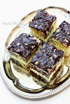 "Ciasto ""Popapraniec""   Arabeska Polish Recipes, Polish Food, Cake Cookies, French Toast, Pancakes, Deserts, Dessert Recipes, Cooking Recipes, Chocolate"