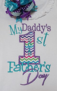 DADDY'S Frist Father's day shirt or by Birthdayshirtsanmore