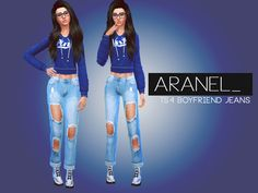 New Item, Ripped Boyfriend Jeans, one color only. :) Found in TSR Category 'Sims 4 Female Everyday'