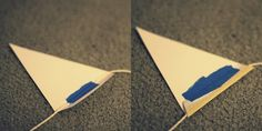smart & easy way to secure DIY paper bunting