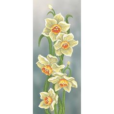 Narcissuses Beaded Embroidery kit DIY Beadwork Hand embroidery