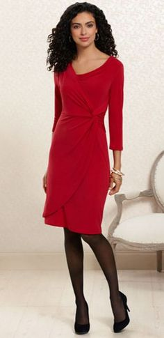 Red Haute: #Soma Side Twist Dress in Ruby #SomaIntimates #red