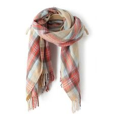 SheIn(sheinside) Multicolor Plaid Fringe Scarve ($12) ❤ liked on Polyvore featuring accessories, scarves, fringe scarves, plaid scarves, tartan plaid shawl, multi colored scarves and tartan scarves