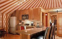 Modern Yurt Kitchen  - Pacific Yurts