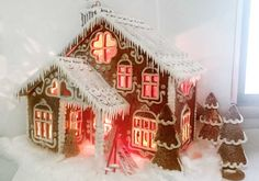 Gingerbread House Designs, Christmas Gingerbread House, Christmas Cookies, Gingerbread Houses, Christmas And New Year, All Things Christmas, Christmas Time, Xmas, Holiday