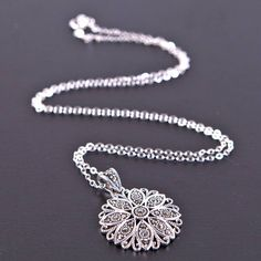vintage style silver marcasite necklace by gama weddings   notonthehighstreet.com