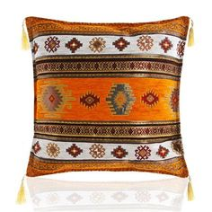 Sedef Chenille Cushion Cover, Orange