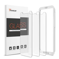 """[3 Pack] Ultra Slim - Trianium's Tempered Glass Screen Protectors are 0.25mm thin, making them hardly noticeable for your viewing pleasure. Specifically made for iPhone XS Max 2018 / iPhone 11 Pro Max 6.5"""" Display. Scratch Proof - This durable screen protector consistently protects your screen from scratches, scuffs, and impacts."""
