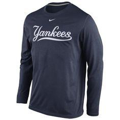 hot sales 543cc a33f1 New York Yankees Nike Legend Wordmark Long Sleeve Performance T-Shirt