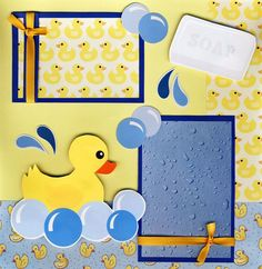 first bath scrapbook layout | Bath Time 2 Premade Scrapbook Pages 12x12 Scrapbooking Baby 4 Album by ...