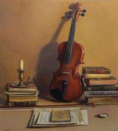 Photorealistic Oil Paintings By Spanish Artist Antonio Guzman Capel Spanish Painters, Spanish Artists, Violin Photography, Violin Art, Etiquette Vintage, Hyper Realistic Paintings, Popular Artists, Wow Art, Still Life Art