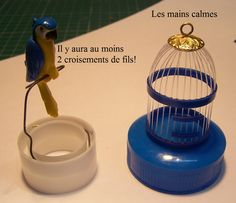 DIY miniature bird cage - a different design with perch, blogger describes four previous types of bird cages
