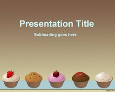 Cupcakes PowerPoint template or muffins template for PowerPoint is a nice template for cooking or recipes in PowerPoint presentations