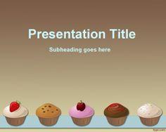 Plantilla PowerPoint de Pasteles y comida para descargar gratis
