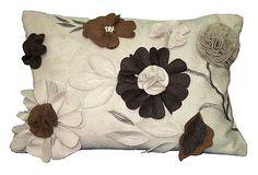 Floral Leaves 12x18 Pillow, Sand/Brown on OneKingsLane.com