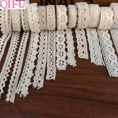 Lace Ribbon, Fabric Ribbon, Lace Fabric, Cotton Crochet, Crochet Lace, Burlap Rolls, Sewing Crafts, Sewing Projects, Handmade Accessories