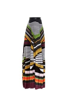 Pelar striped maxi skirt by Mary Katrantzou | Shop now at #MATCHESFASHION.COM