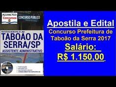 Apostila Exclusiva Edital Concurso Prefeitura Taboão da Serra (SP) 2017 Especialidade: Assistente Administrativo   Apostilas Para Concursos