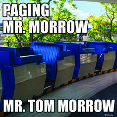 Paging Mr Morrow. Mr Tom Morrow. #tomorrowland #waltdisneyworld