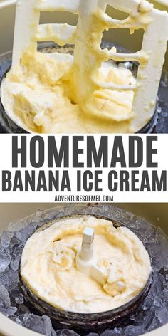 Frozen Meals, Frozen Desserts, Sweet Desserts, Homemade Banana Ice Cream, Gelato Ice Cream, Ice Cream Social, Healthy Dessert Recipes, Yogurt Recipes, Ice Cream Recipes