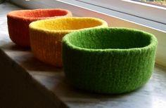 Felted Wool Bowl Sale - Pick Any Three. $60.00, via Etsy.