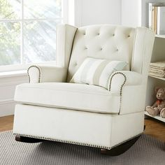 Tufted Nailhead Wingback Rocker