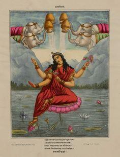 Goddess Kamalatmika or Kamala, One of the Mahavidya - Hindu Art Studio, Calcutta…