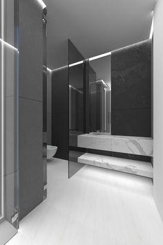 white floor smoke glass white marble