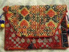 Vintage Banjara Patchwork Clutch Bag viii