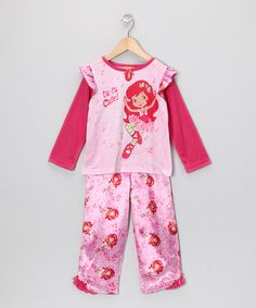 Take a look at this Pink 'Cute' Strawberry Shortcake Pajama Set - Toddler & Girls by Saramax on #zulily today!