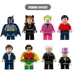 PG8009 DC Batman Super Heroes Bat girl Robin Joker Penguin DIY Figure Lepin Compatible Children Puzzle Gift Toys